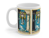 High Priestess Tarot Card Mug 11oz, Psychic, Witch, Rider Waite Deck