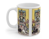 The Chariot Tarot Card Mug 11oz, Psychic, Witch, Rider Waite Deck