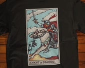 The Knight of Swords Tarot Card T-Shirt, Ghost Hunter, Paranormal, Psychic, Witch, Wizard, Warlock, Pamela A