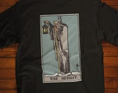 The Hermit Tarot Card T-Shirt, Ghost Hunter, Paranormal, Psychic, Witch, Wizard, Warlock, Pamela A