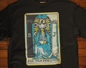 The High Priestess Tarot Card Shirt, Psychic Shirt, Witch Shirt, Tarot Card Shirt, Unisex Graphic Tee