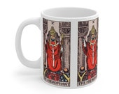 The Hierophant Tarot Card Mug 11oz, Psychic, Witch, Rider Waite Deck