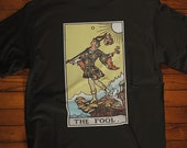 The Fool Tarot Card T-Shirt, Ghost Hunter, Paranormal, Psychic, Witch, Wizard, Warlock, Pamela A
