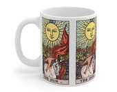 The Sun Tarot Card Mug 11oz, Psychic, Witch, Rider Waite Deck