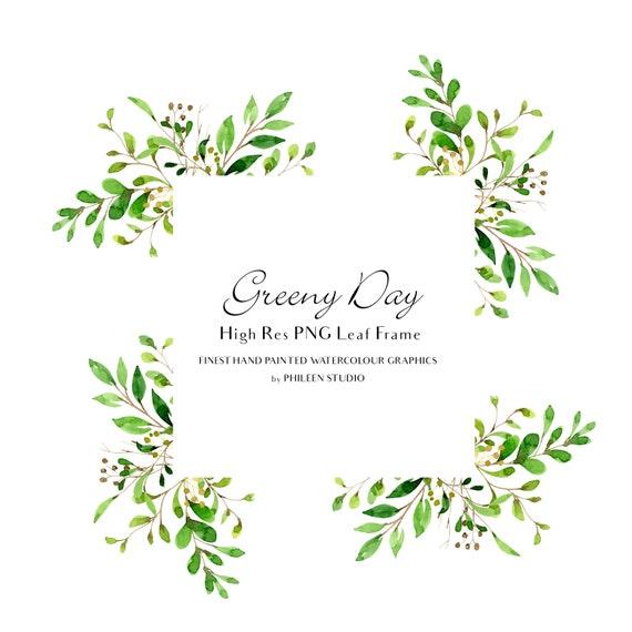 Green Day Floral Wreath Clip Art Wreath Clip Art Floral | Etsy