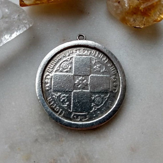 Handmade Silver Coin Pendant Made Of 1 Mark Coin 90/% Silver Eagle Handcrafted Anniversary Gift  Jewelry Present Antique Coin