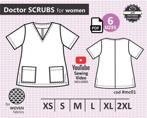 Doctor Scrubs PDF download CLOTHES pattern ONLY