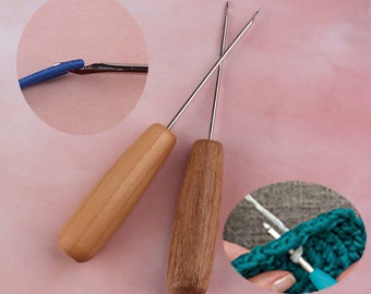 0.5mm steel Dreadlock Crochet Hook With Hand sculpted Handle Dread Tool Dreadlock Maintenance
