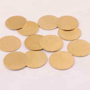 Round  1 Hole  Findings 0.5 x 52 mm Antique Copper  Round Ring  Disc