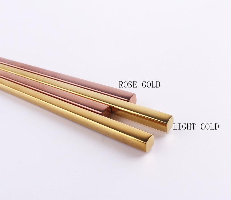 rose gold color chopsticks,Korea style chopsticks,simple style chopsticks,stainless steel chopsticks,wedding gift chopsticks
