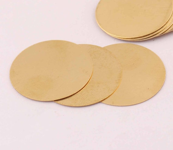 Raw Brass Round Ring Disc Findings 0.5 x 34  mm