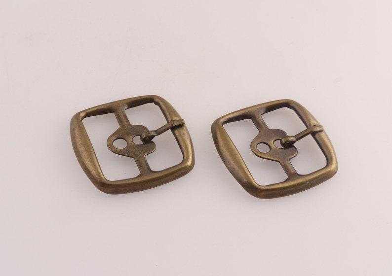 25mm metal bronze rectangular belt buckle for webbing handbag DIY hardware 4pcs single prong belt buckle strap fastener buckle.