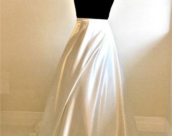 22a3a6860 Plus Size Satin Wedding Skirt | Bridal Skirts Custom Made All Sizes Petite  to Plus Size