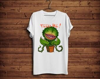 "Little Shop of Horrors Audrey II Tshirt "" Feed Me ! """