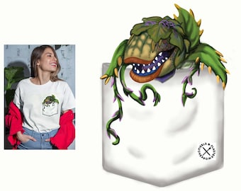"""Plus Sizes Little Shop of Horrors """" Audrey II In a pocket""""  T-Shirt"""