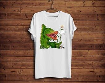 """Little Shop of Horrors Audrey II Tshirt """" Audrey and Seymour """""""