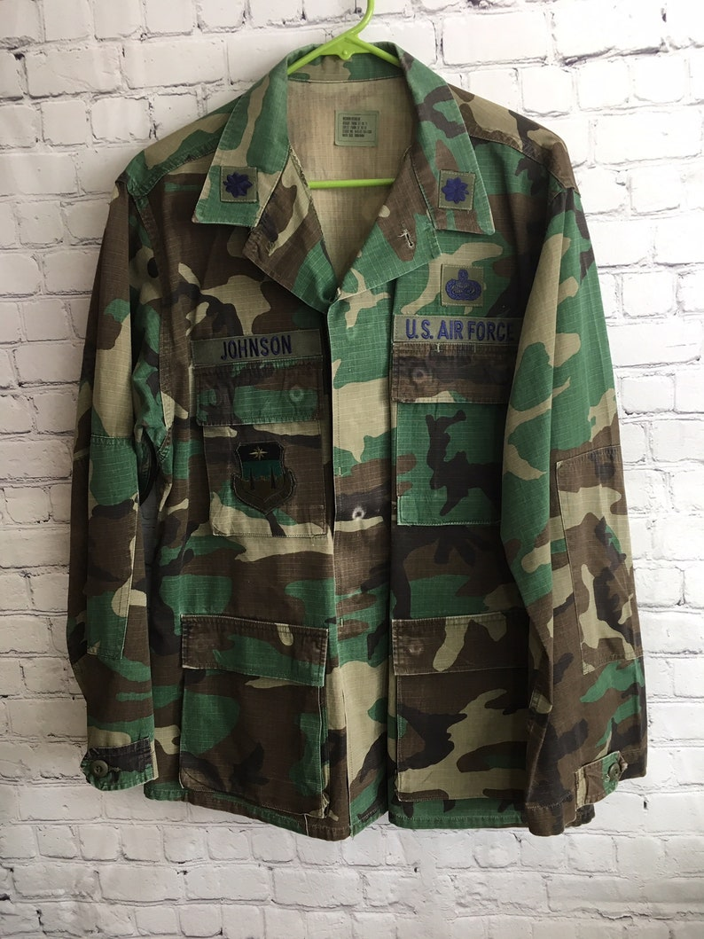 31dc616032eaa Vintage Hot Weather Woodland BDU Jacket Size: Medium Regular | Etsy