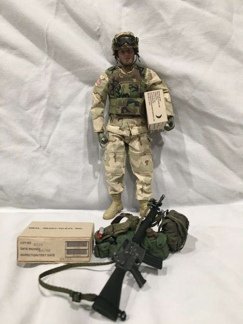 1-12 Scale EARLY VERSION Meal Ready to Eat MRE box for image 0