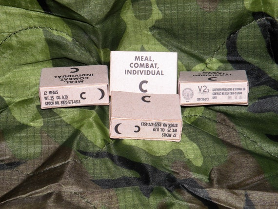 """1-12 Scale Vietnam C-Ration Sheets for 6/"""" Scale Toys"""