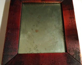 6b06540f328 Antique Primitive Small Grain Painted 1840 Frame and Mirror