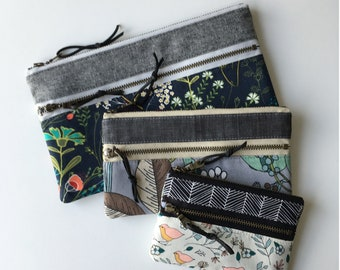 Lisbon zipper pouch, three sizes, pdf pattern, instant download, sewing pattern, coin pouch, bag, make up, pencil, sotak patterns, sew