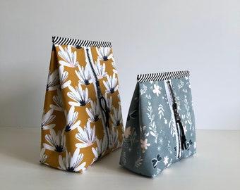 Petunia Pouch pdf pattern, sewing pattern, instant download, zipper pouch, unique, sotak patterns, diy, sewing, bag