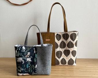 Cumbria Tote Bag, two sizes, pdf sewing pattern, zipper pocket divider,  bag pattern, instant download, sotak patterns, sotak handmade, tote