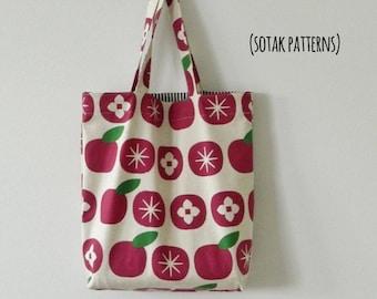 Everyday Tote, pdf pattern, instant download, bag pattern, tote bag, simple tote, canvas tote, diy, sotak patterns, sewing pattern, sew