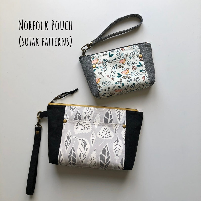 Norfolk Pouch sewing pattern in two sizes pdf pattern image 0