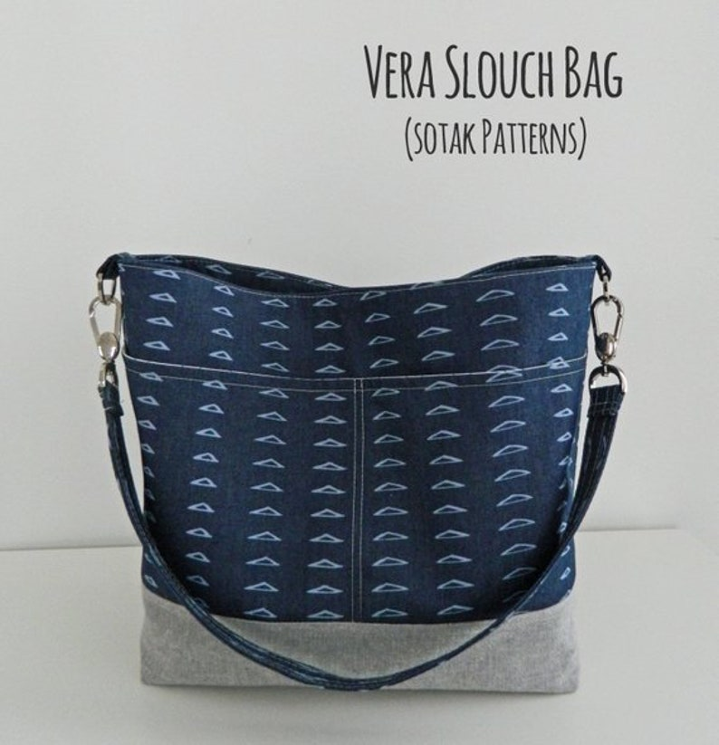 Vera Slouch Bag instant download bag pattern pdf pattern  a2070885279f8