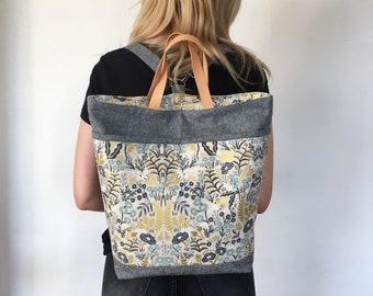 Brooklyn TotePack, sewing pattern, pdf, bag pattern, instant download, backpack, sotak patterns, diy, tote bag, sewing, removable straps