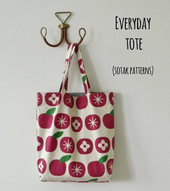 6261968e7173 Everyday Tote pdf pattern instant download bag pattern