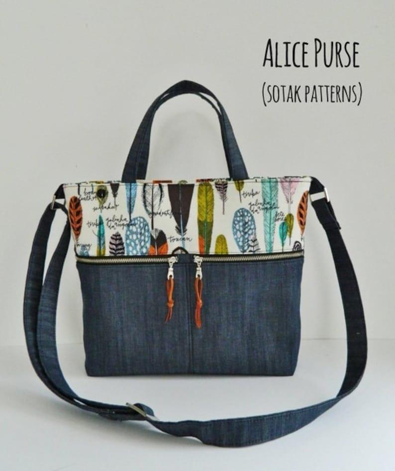 c20aac8d4616 Alice Purse pdf pattern instant download pdf pattern