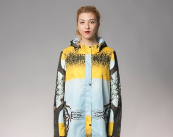 Code: Rain - Canola field printed rain jacket