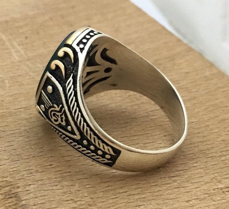 Green Agate Stones Handmade 925 Sterling Silver Men Ring Mens Rings Mens Ring Agate Ups free express shipping Mens