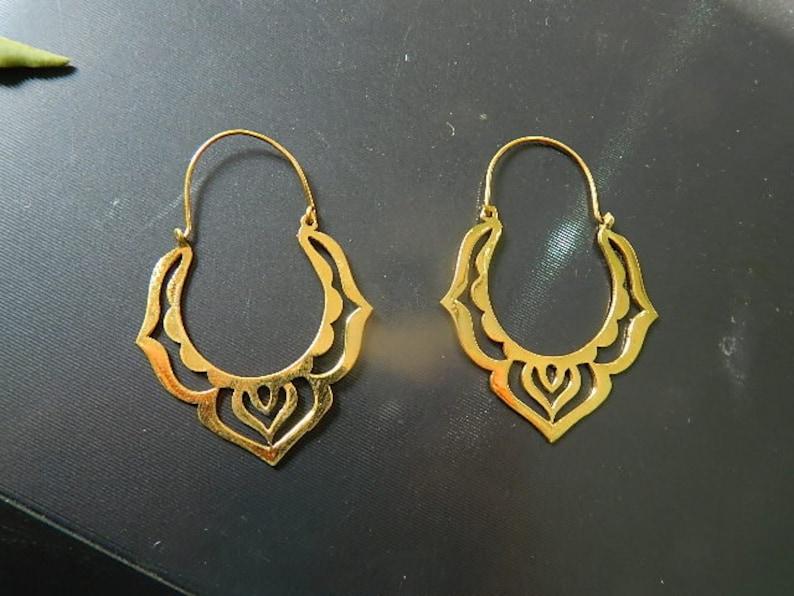 Brass Hoop Earrings A Indian Tribal Hoop Earring Bohemian Earring One Pair Festival Earrings Modern Boho