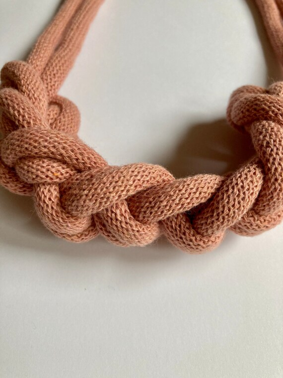 Blush Rope Necklace, bold statement necklace