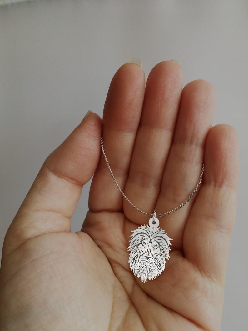 Lion Jewelry Lion Necklace Lion head pendant