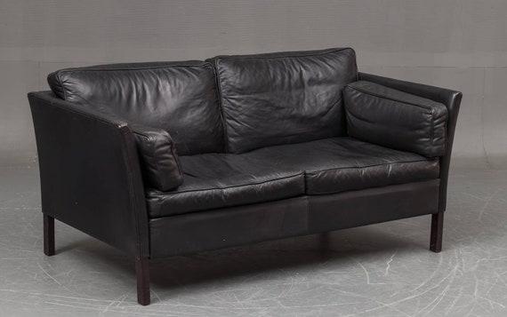 Danish Thams 2 seater leather sofa