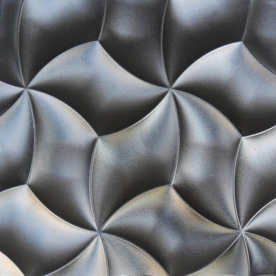 Set 2 Petals Plastic Molds for 3 D Panels Plaster wall stone Form 3D decor panel