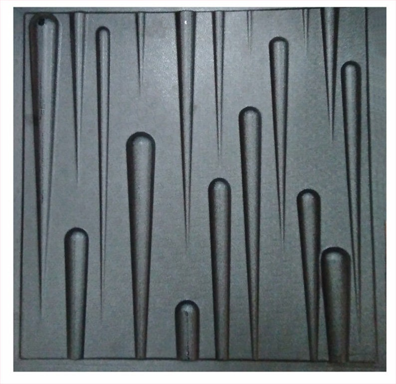 gypsum ABS Plastic mold 3D Panel for making from plaster Icicles or concrete decor wall panels