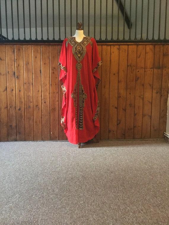 Moroccan Dubai abaya kaftan Luna burgundy  lace maxi Dress maternity baby shower