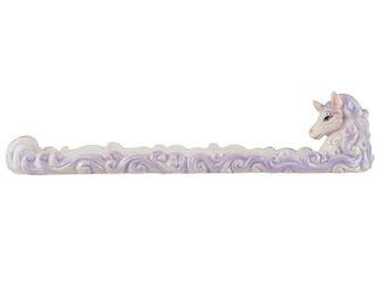 10.2/'/'  26cm Tall Beautiful Unicorn with Sparkly Rainbow Geode Incense Holder Hand-Painted Rainbow Unicorn Incense Burner