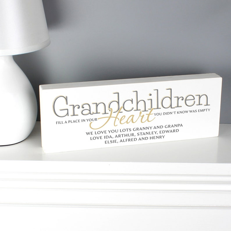 Personalised Wooden Ornament Sign Grandma Gift Grandparents  Heart Felt Gift Birthday Mother/'s Day