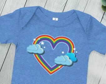 53de14de8678 Rainbow heart onesie