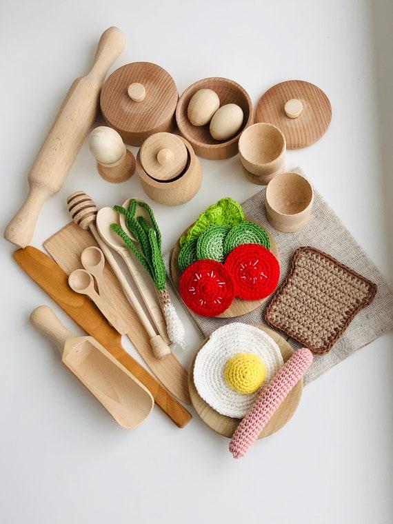 Kitchen play set Play kitchen Wooden baby toys Montessori toys
