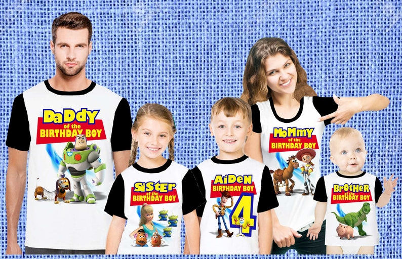 Toy Story Birthday Party T-Shirt personalized with child Photo Name and Age