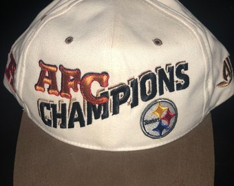 cb933a579 Vintage AFC Champs Pittsburgh Steelers snapback.