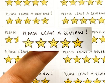 35 x Please leave a review small business stickers entrepreneur happy mail five starts cute kawaii stationery letter post packaging postage