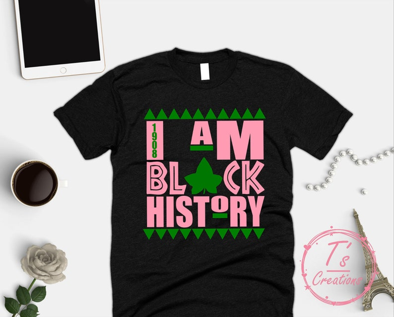57147f0f0ff AKA I Am Black History Shirt 1908 Black History